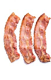 Crispy Slices of Streaky Bacon.