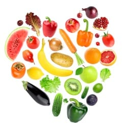 Love heart of Fruit