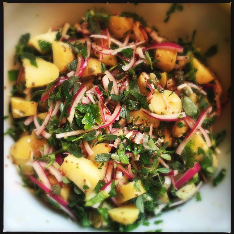Potato Purslane Salad