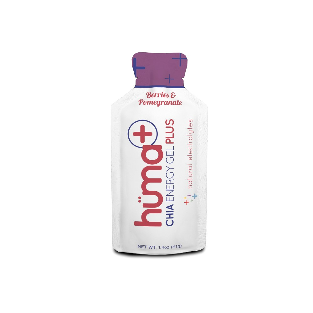 Hüma + Chia Energy Gel Plus Natural Electrolytes Berries & Pomegranate