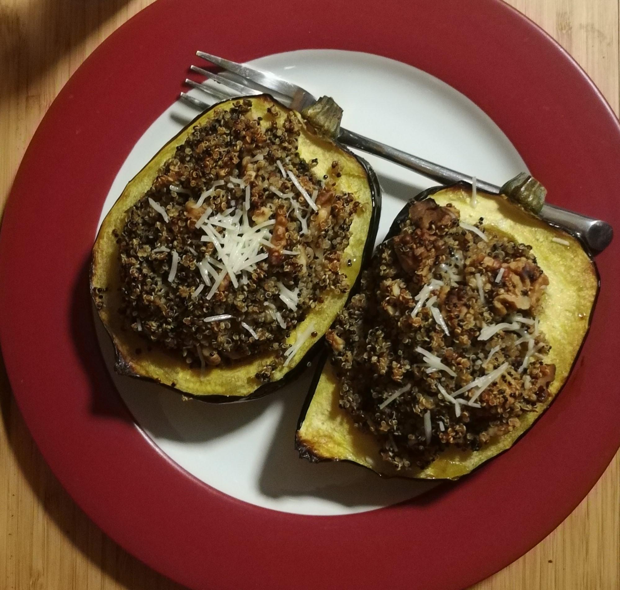 quinoa in an acorn squash