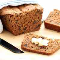 Gluten-free Cinnamon Raisin Bread (Vegan, Nut-free, Refined Sugar-free)