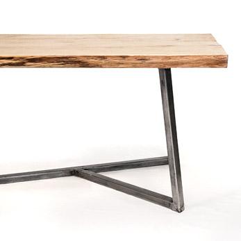 nutsandwoods oak steel table
