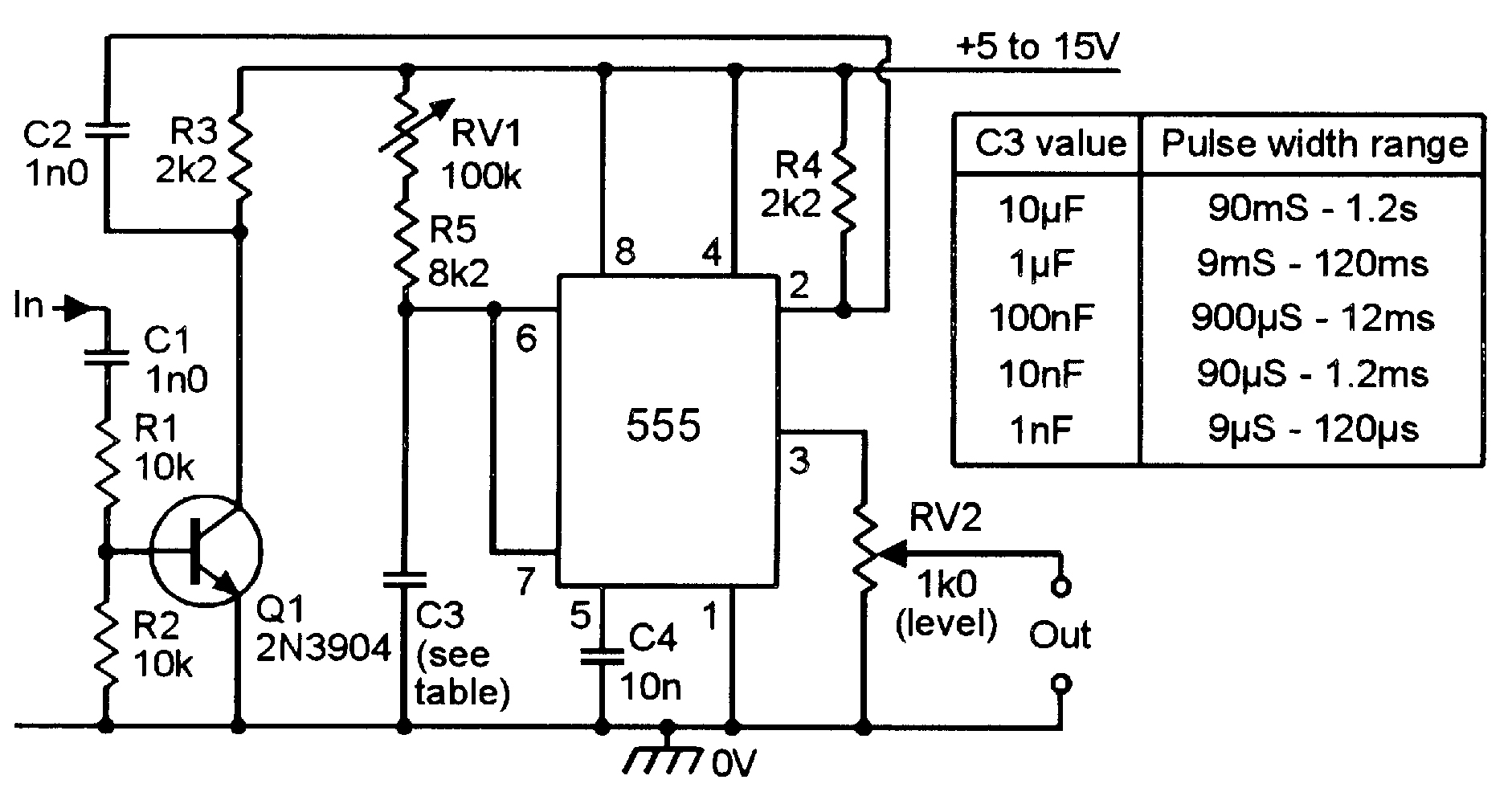 555 Circuit Schematic