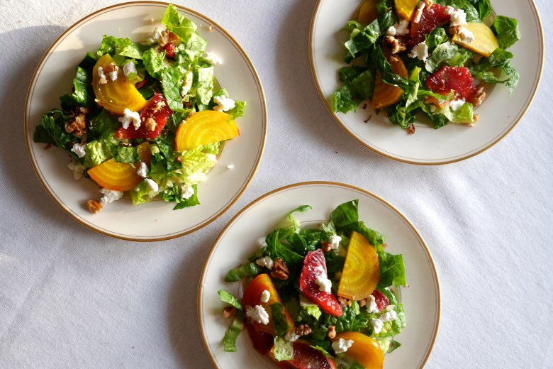 Golden Beet and Blood Orange Salad