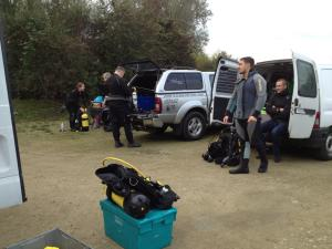 Scuba Diving at Leybourne Lakes