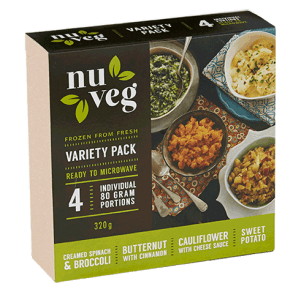 Nuveg frozen vegetables variety pack