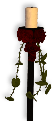 rose candle 2a