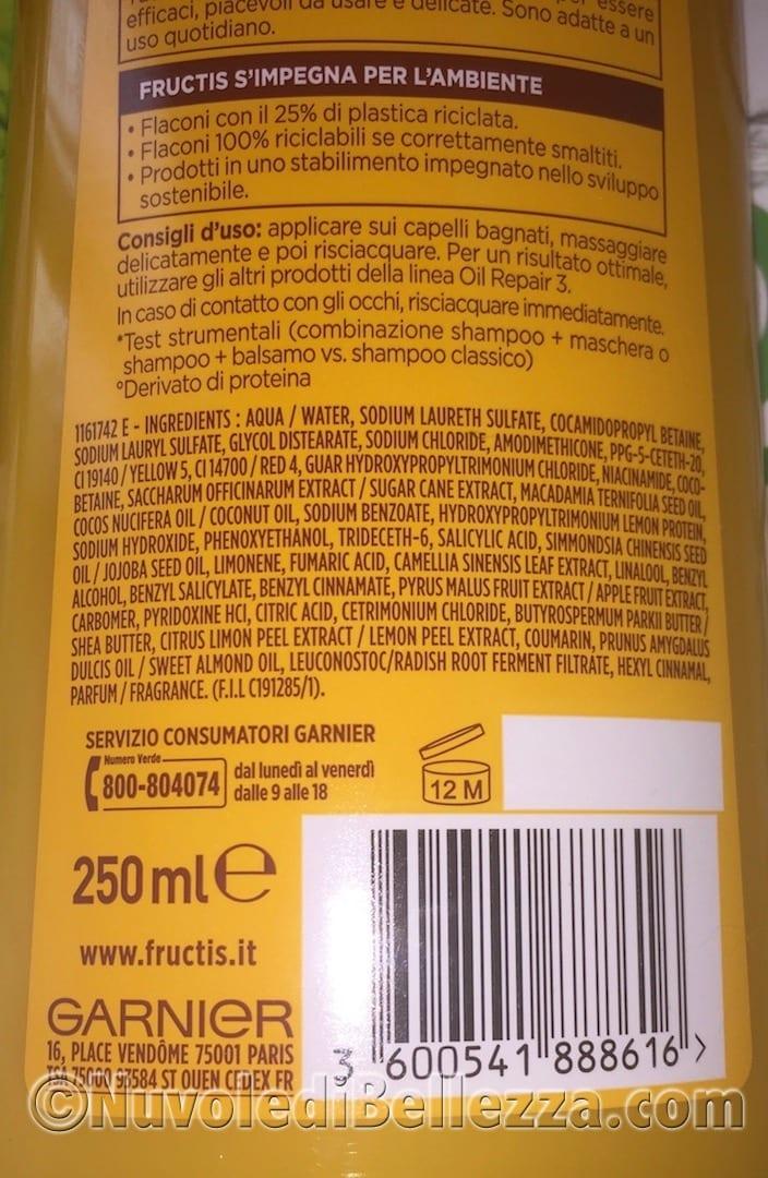 Oil Repair 3 Shampoo Burro Fortificante