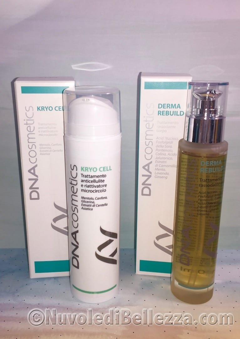 Kryo Cell e Derma Rebuild DNA Cosmetics