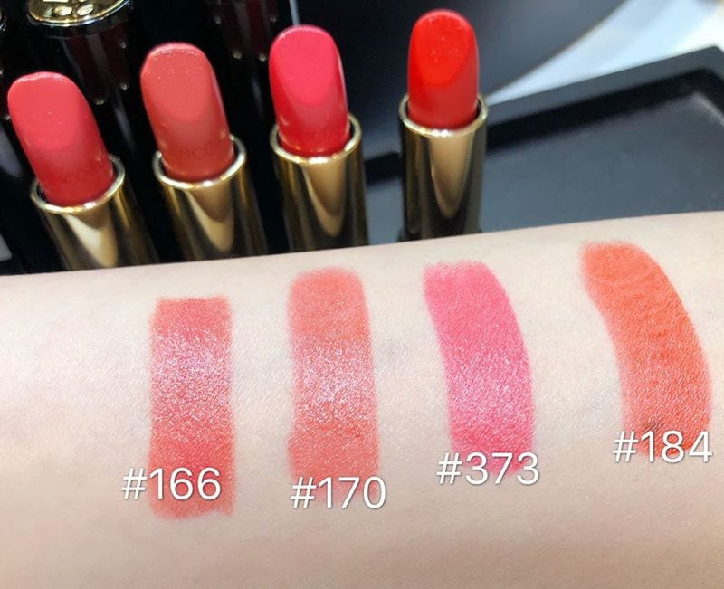 Swatches L'Absolu Rouge Lancome