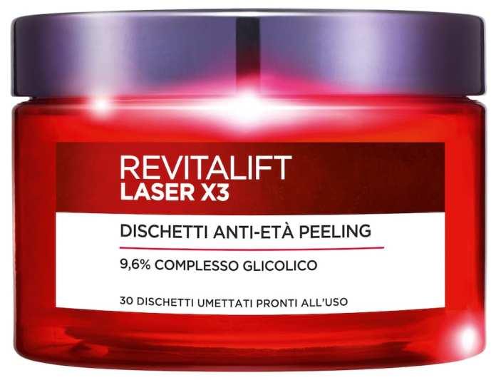 L'Oreal Paris Dischetti Anti Età Peeling Revitalift Laser X3