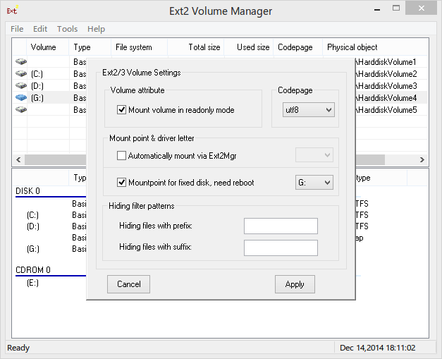 Ext Volume Manager