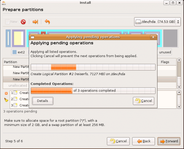 Ubuntu Install: creating partitions