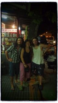 La Pintada'da karsilastigimiz Sili'li bisikletciler