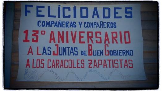 13. Yıldonümünde Viva Zapatistas