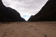 seneler önce taşan Rio Santa nehir yatağı