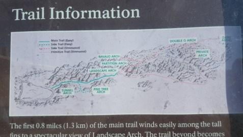Map Devil's Garden Trail