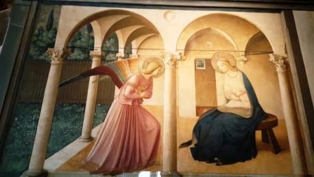 L'Annonciation de Fra Angelico couvent San Marco