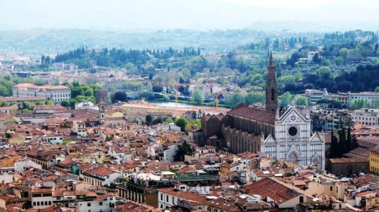 Vue sur Santa Croce depuis la Couple du Duomo Florence