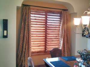 Knotty Alder Shutters in Highlands Ranch, Colorado