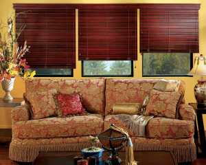Hunter Douglas wood blinds in Castle Rock, Colorado