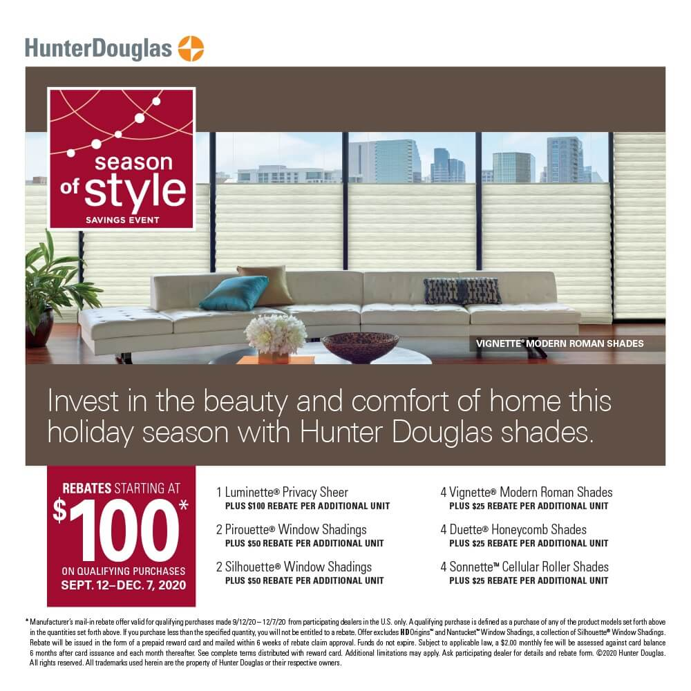 Hunter Douglas Applause Honeycomb Shades Discount Offer in Colorado