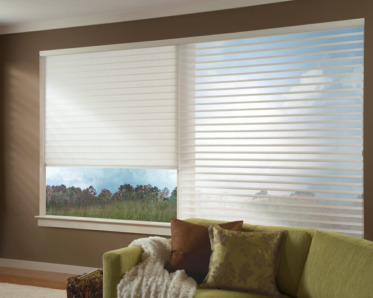 Hunter Douglas silhouette window shadings in Colorado Springs, Colorado