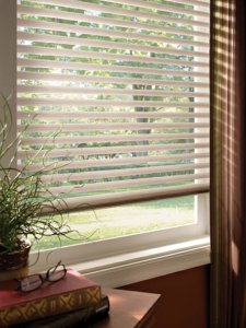 Insulating blinds in Colorado Springs half open setting