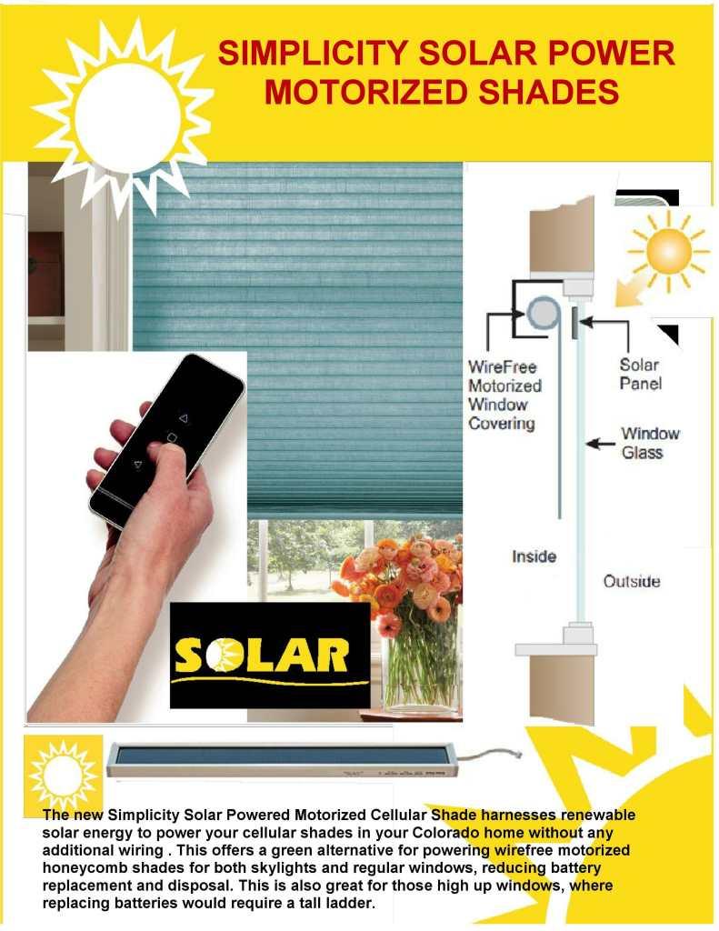 Solar Power Window Shades in Colorado