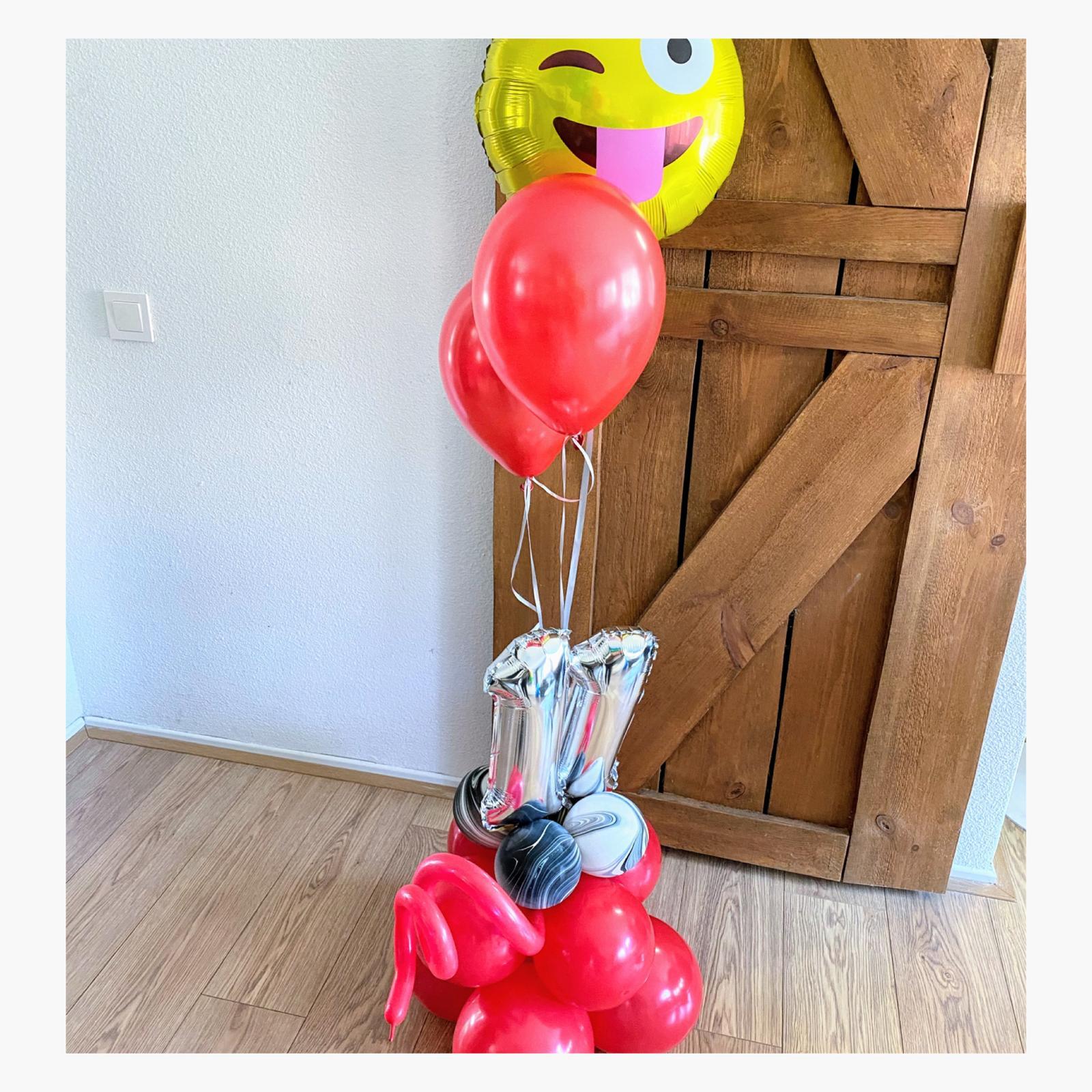 ballon cijfer pilaar
