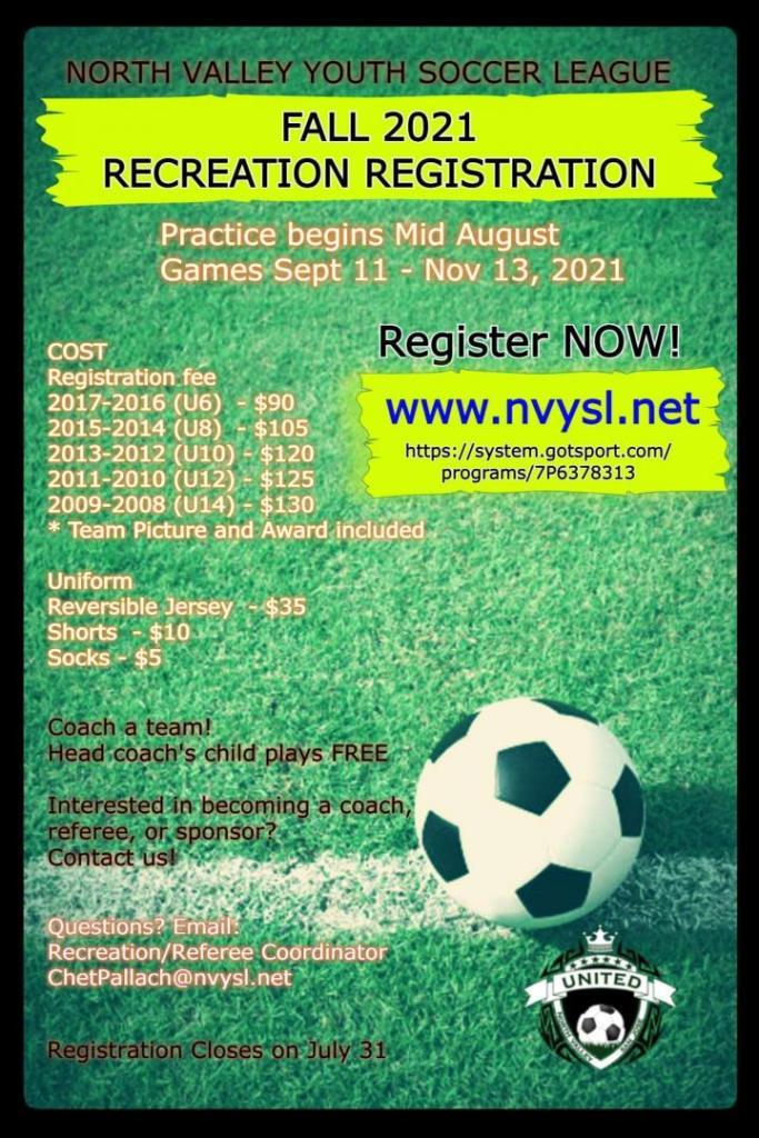 NVYSL Registration