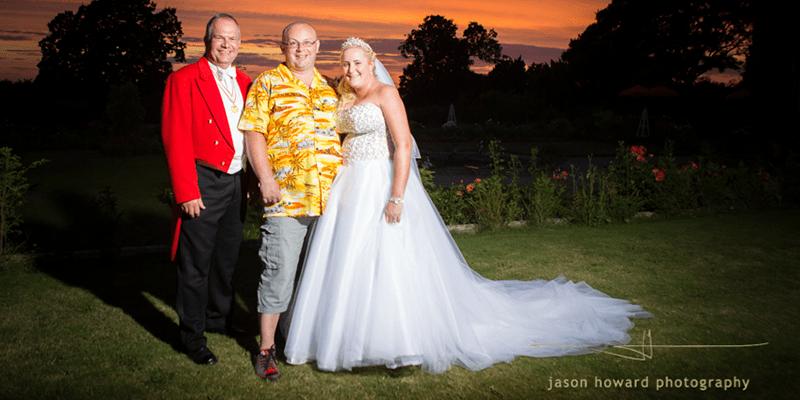 Toastmaster at Kelly & Jason's wedding at Willington Hall Cheshire