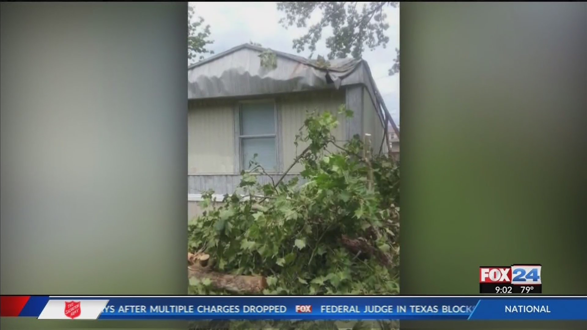 Tree Falls on Russellville Mobile Home Killing Mother, Child (Fox 24)
