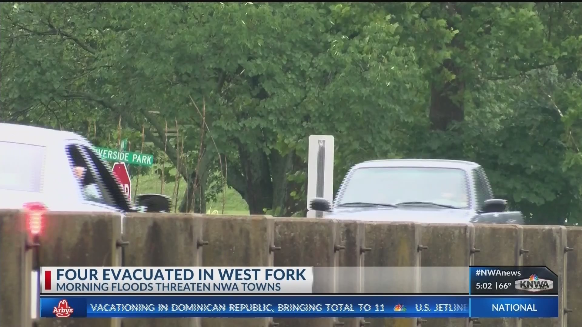 Flooding forces evacuations in West Fork (KNWA)