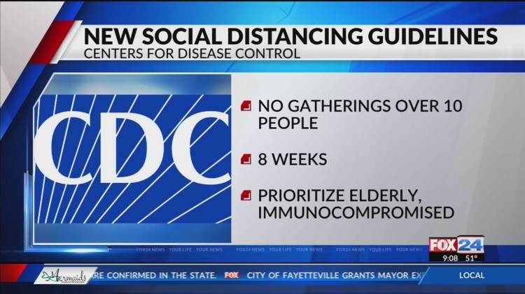 CDC releases new social distancing guidelines