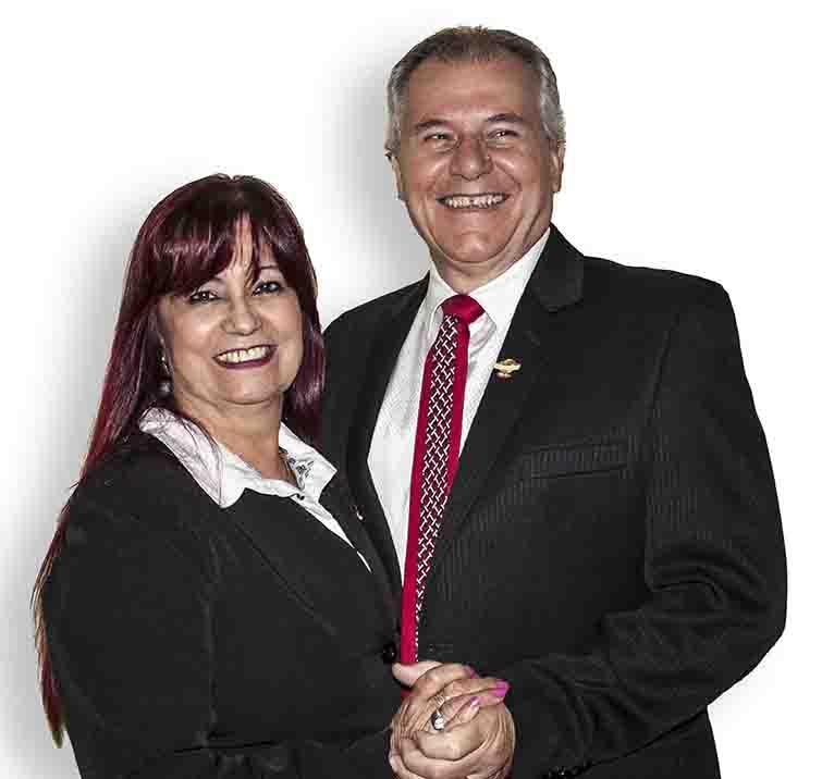 Charles e Rita Possamai, diretores da New World Cosméticos