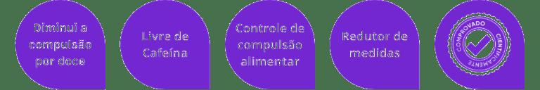 Certificado de eficácia, livre de cafeína, controle de compulsão alimentar, redução de medidas