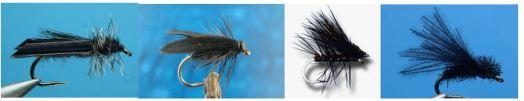 Biot Wing, Black Slow Water, Elk Hair, and Little Black Caddis