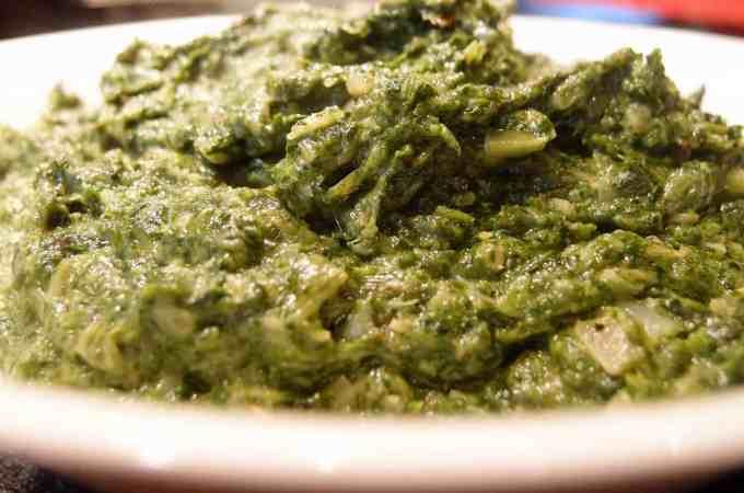 Creamy Spinach Puree