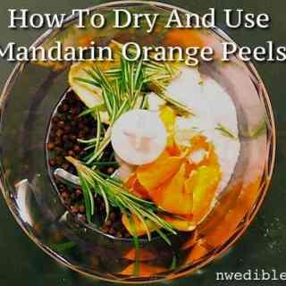 How To Dry and Use Mandarin Orange Peels