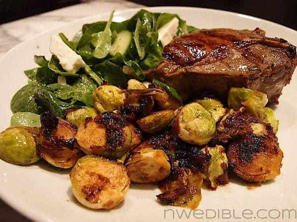Brussels Sprouts with Bacon and Maple-Bourbon Vinaigrette