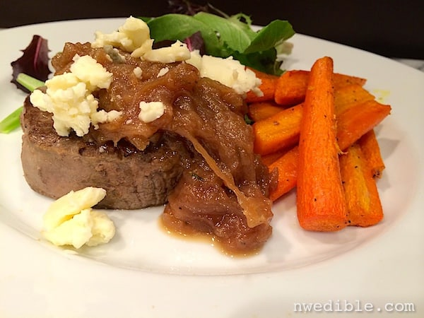 Steak with Caramelized Onions