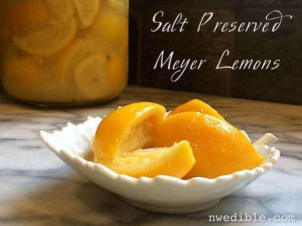 Salt Preserved Meyer Lemons