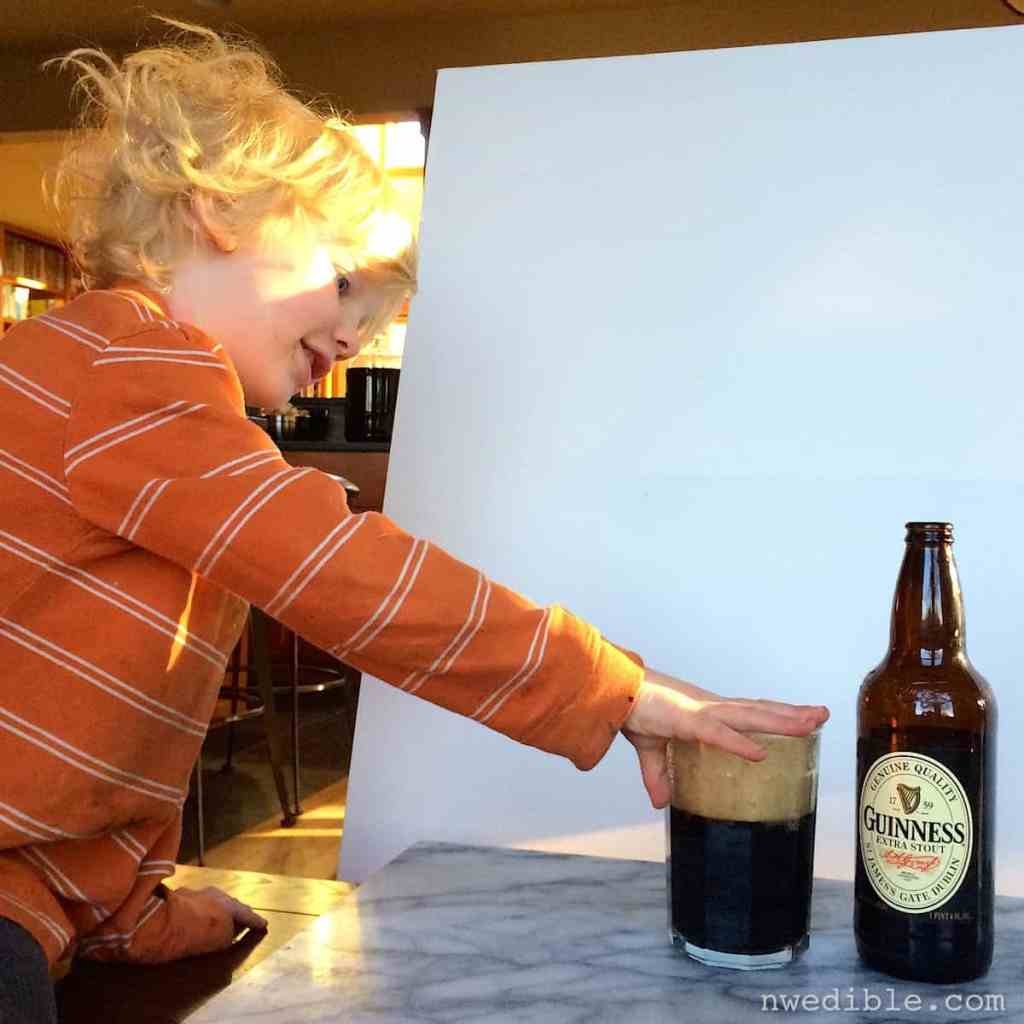 Oliver with Guinness