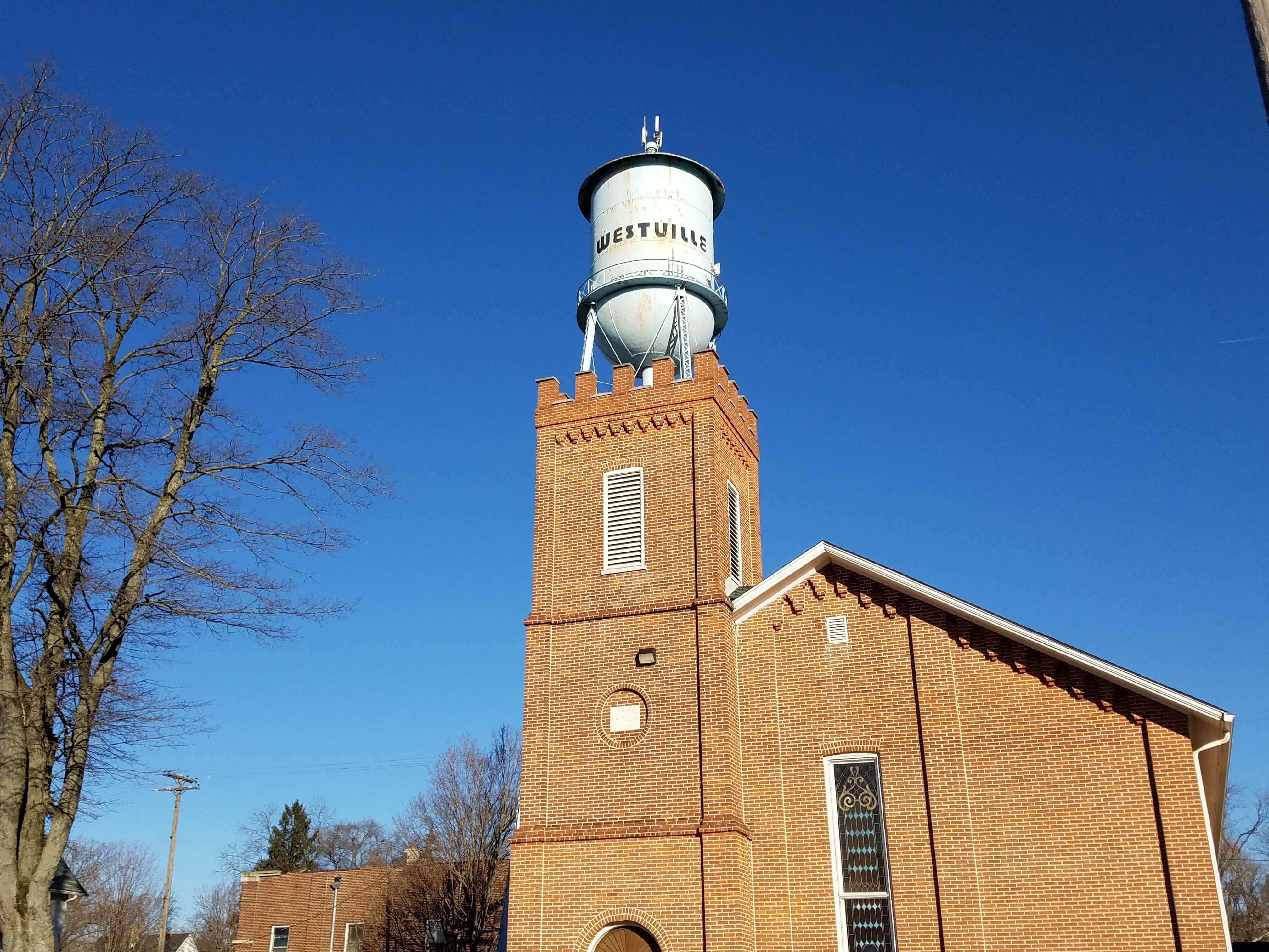 church downtown Westville IN