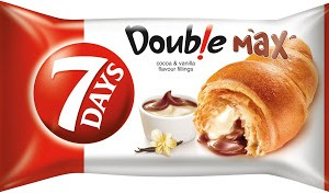 7days Croissant Double Max Cocoa & Vanilla 80g