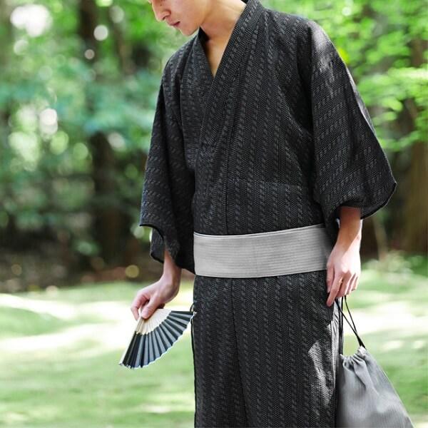 Men's bland yukata