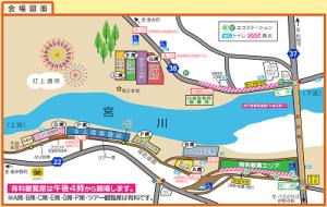 伊勢神宮花火の有料席MAP