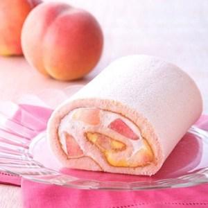 お取り寄せで人気の桃のロールケーキ